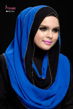 Duo Loop in Royal Blue  Price: $49  Material: Chiffon
