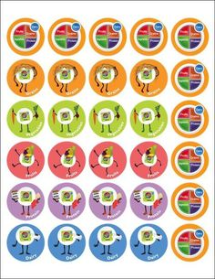 MyPlate stickers are colorful and remind them to eat well with My Plate every day. Nutrition Poster, Education Posters, Health Communication, Plating Ideas, Conceptual Fashion, 10 Commandments, Organic Chocolate, Ink Drawings, My Plate