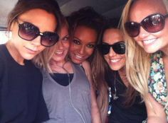 A candid photo shared by The Spice Girls when they were preparing for their 2012 Olympics performance. Melanie C, Actress Emma Stone, Emma Bunton, Baby Spice, Geri Halliwell, Spice Girls, Female Singers, Girls Shopping, Victoria Beckham
