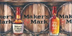 Maker's Mark Inspired Oil Painting Print by rachelturner4 on Etsy, $40.00...That's me!!  Check it out!!