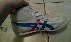 Rare Asics Onitsuka Tiger Red White and blue High Tops Sz 7.5 Midrunner