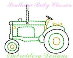 Old Antique Tractor Pumpkin Farm Autumn Design Vintage Quick Stitch File for Embroidery Machine Instant Download Boy Heirloom Toy #antiquetoys