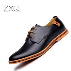 Cheap shoes fashion, Buy Quality shoes casual men directly from China shoes dress shoe Suppliers: 2017 Leather Casual Men Shoes Fashion Men Flats Round Toe Comfortable Office Men Dress Shoes Plus Size Mens Fashion Shoes, Leather Fashion, Leather Men, Leather Shoes, Fashion Flats, Dress Fashion, Soft Leather, Style Fashion, Men's Shoes