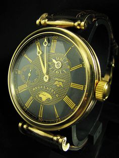 LONGINES Regulateur Antique 1909 Art Deco Watch Golden