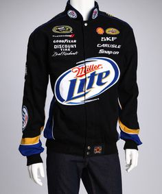 Take a look at this Black & Royal Blue Brad Keselowski Beer Jacket - Men by JH Design Group on #zulily today!