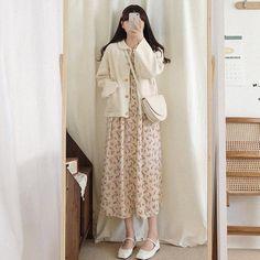 Korean Outfit Street Styles, Korean Fashion Dress, Korean Dress, Ulzzang Fashion, Korea Fashion, Korean Outfits, Asian Fashion, Skirt Fashion, Hijab Fashion