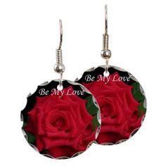Be My Love Romantic Red Rose Earring Circle Charm on http://www.cafepress.com.au/+be_my_love_romantic_red_rose_earring_circle_charm,1483822162
