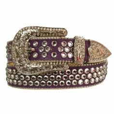 Luxury Divas Purple Rhinestone Studded Belt With Silver Buckle -  The perfect women's belt can make or break an outfit therefore consider taking a look at this cute, charming and one-of-a-kind women's belts.  You will appreciate how casual, fun and trendy these can be with the right clothing.  You can wear these belts with jeans, dresses or even shorts and achieve an elevated, sophisticated and absolutely awesome first impression