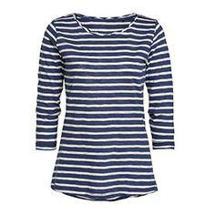 Pitkähihainen trikoopusero sininen ekologista puuvillaa 12.95 e Lindex - long sleeve t-shirt blue striped eco cotton