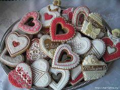 Сердечные пряники ВАЛЕНТИНКИ. Рецепт и красивые идеи (6) (600x450, 209Kb)