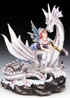Avery and the Snow Dragon Figurine