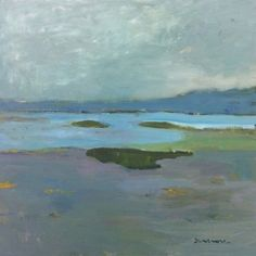 ☼ Painterly Landscape Escape ☼ landscape painting by Stephen Dinsmore | Bay of Fundy