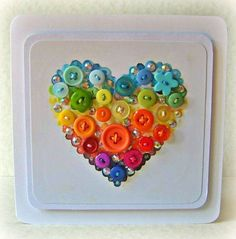 Now check out these admired collection of button handmade cards that will assist you in making handmade cards accessories.