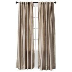 Threshold™ Faux Silk Curtain Panel (in Tan) (Target)