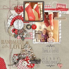 Kit: Handmade with love - KimB @ The Digital Press Template: Gifts of time and love - Angelclaud ArtRoom