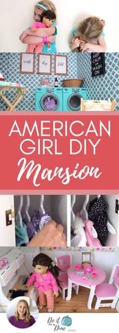Today's video is an American Girl Doll House Tour! Dollar Tree hacks and ideas for your American Girl Dolls and how to build the perfect house using Ikea bookshelves. Build an Ameri… American Doll House, American Girl Doll Room, American Girl Birthday, American Girl Diy, Ikea Dollhouse, Girls Dollhouse, Doll Organization, Girl House, Diy For Girls