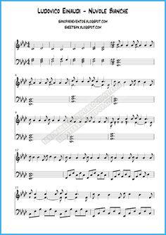 Partitura de Nuvole Bianche de Ludovico Einaudi para piano | Partituras y pistas para saxo | Sheet music and Play Along for sax
