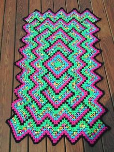 Drop in the Pond Throw - Free Crochet Pattern