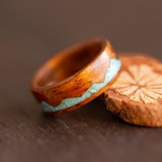 Koa Turquoise Ring – unique range of koa wood turquoise ring or turquoise engagement wood rings online for all occasions that are carefully inlaid by hand to each design. Turquoise Rings, Turquoise Stone, Wave Design, Wood Rings, Rings Online, Unique Rings, Special Gifts, Rings For Men, Range