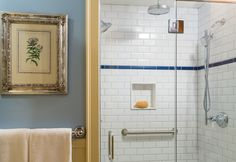 Room 4 has a walk-in shower for two with 3 shower heads!