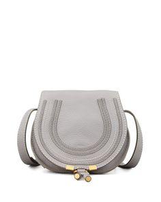 188025bd67e Marcie Mini Saddle Bag, Gray by Chloe at Neiman Marcus. Chloe Mini Marcie,