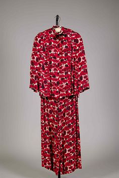 Pajamas, ca. 1938. American. The Metropolitan Museum of Art, New York. Brooklyn Museum Costume Collection at The Metropolitan Museum of Art, Gift of the Brooklyn Museum, 2009; Gift of Mrs. Stanley Mortimer, 1974 (2009.300.7865a, b)