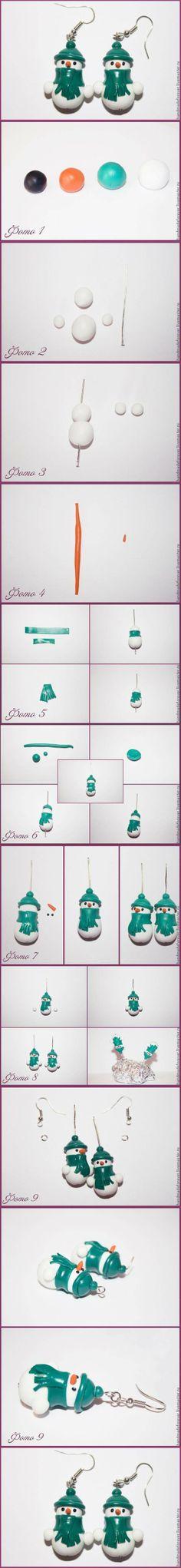 sandylandya@outlook.es  DIY Clay Snowman Earrings | DIY