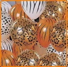 animal print balloons {jungle party}