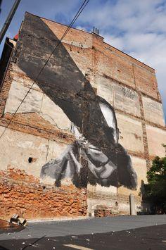 ArtBoom Festival 2012 - Pikaso - mural - For god's sake, cenzorship is everywhere - pic. Weronika Szmuc