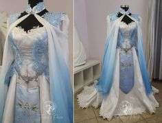 Blue Zelda Bridal Gown by Firefly-Path