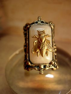 Reserved for LV Baroque Fly Ring aesthetic by vintagesparkles