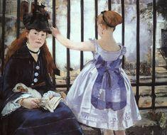 """A gare Saint Lazare""- Manet"