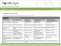 example of apa citation in paper | Screen capture of APA In-text Citation Example