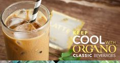 Keep enjoying these sunny days with our classic ORGANO beverages with these recipes! Iced Latte, Iced Tea, Iced Coffee, Coffee Time, I Love Coffee, Black Coffee, Coffee Photography, Tea Recipes, Recipies