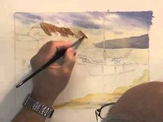 Watercolour Water Tutorial - Ripples at Porlock Weir (Part 1) - YouTube