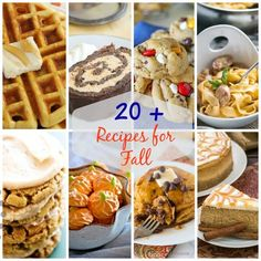 The BEST FALL Recipes - Over 20 of the most delicious breakfast, lunch, dinner, and dessert recipes for fall! Pumpkin Chocolate Chip Cookies, Chocolate Chip Pancakes, Chocolate Chip Oatmeal, Sweet Potato Dishes, Twice Baked Sweet Potatoes, Slow Cooker Pumpkin Soup, Chocolate Roll Cake, Pumpkin Dessert, Pumpkin Cheesecake
