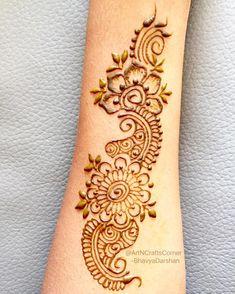 """16 Likes, 1 Comments - Art&CraftsCorner (@artncraftscorner) on Instagram: """"Beautiful Henna Design on forearm  . . . . . . . #HennaArt #hennatattoos #hennatattoo #Mehndi…"""""""