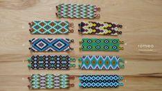 Mexikanische Armbänder  geometrisches Muster  von RomeaAccessories