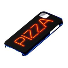 PIZZA Blue & Red Neon Sign iPhone 5 Case
