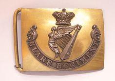 Clare Regiment of Militia William IV / Victorian Field Officer's waist belt plate circa 1830-55.