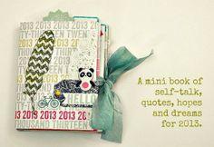 hello 2013~ Cocoa Daisy Jan '13 mini book by Nitty.GrittyJody @2peasinabucket
