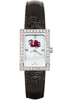 South Carolina Gamecocks Women's Allure Watch with Black Leather Strap