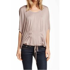 """🎉New Miilla Dolman Sleeve Drawstring Hem Top 🆕🎉Miilla Dolman Sleeve Shirt in Color """"Mushroom"""" Loose flattering fit! Soft, Comfy! A must have item for every wardrobe! Never goes out of style! Size Medium!! Miilla Tops Tees - Short Sleeve"""
