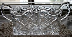Shannon Crystal by Godinger Designs of Ireland Double Sugar Packet Caddy by SistersDreamBoutique on Etsy