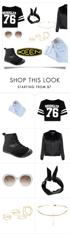 """""""So Fresh and So Keen: Contest Entry"""" by elaina-garcia-1 ❤ liked on Polyvore featuring Boohoo, Keen Footwear, Glamorous, Gucci, MANGO and keen"""
