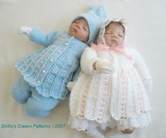Baby Crochet Pattern Jacket Dress Trousers/Pants Bonnet by shifio, $3.79