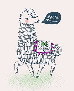 Prancing Love Alpaca by Sarah Walsh