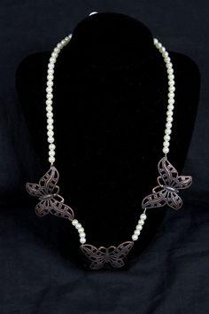 Metal Butterfly Pearl by BridgetBlue on Etsy, $12.95