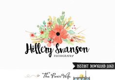 Instant Download Logo Premade Logo Design by TheParisWife on Etsy
