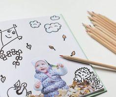 DIY Malbuch mit eigenen Fotos